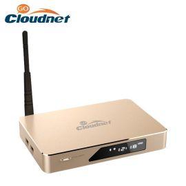 cloudnetgo云网行CR18八核RK3368电视盒子4K网络高清播放器硬解H. 265机顶盒 三色金属外壳 超大内存