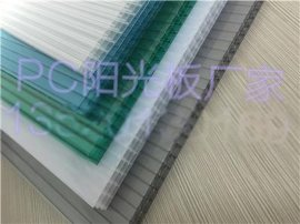 6mm双层阳光板温室大棚,广东PC阳光板厂家