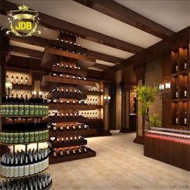 煙酒禮品櫃精品鈦合金貨架 高檔葡萄酒展架 酒類展櫃設計