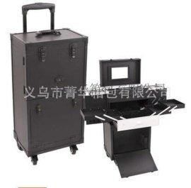 360度旋转万向轮拉杆行李箱手提包旅行箱大铝合金化妆箱JH568