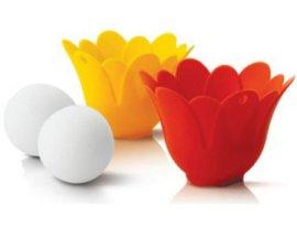 创意硅胶厨具花形煮蛋器