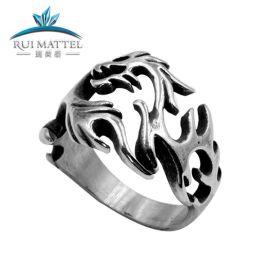 高品质镂空不锈钢戒指男士 钛钢定制款指环 厂家混批时尚手饰饰品