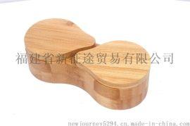 竹制八字形盐罐 竹制品 竹工艺品