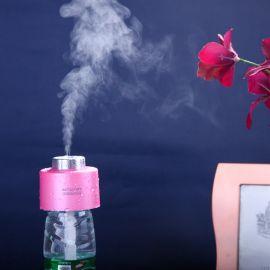 水瓶蓋加溼器 USB超聲波香薰霧化器 家用 創意迷你加溼器usb 批發