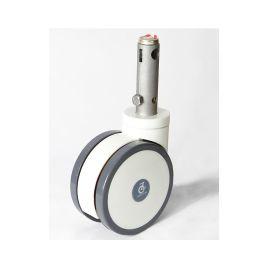 5寸中控轮 对接车轮 担架车轮 德艺脚轮 活动插杆轮 万向刹车轮 静音轮