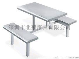 不锈钢餐桌、不锈钢快餐桌椅、不锈钢餐桌椅、不锈钢食堂餐桌