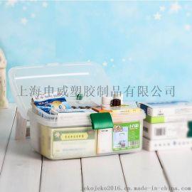 jeko 塑料药品收纳箱小号多层家庭急救保健箱家用医药箱