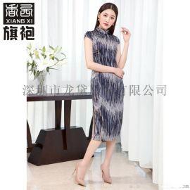 香西简约线条修身时尚款旗袍千丝万缕