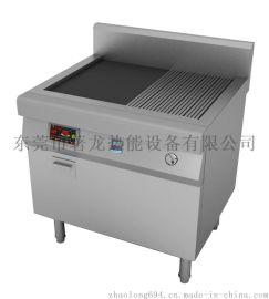 商用厨房设备定做,电磁煎炸煮炉具
