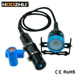 HOOZHU鸿珠 HV33 分体式潜水补光灯 潜水灯 四色光 最大4000流明 水下100m