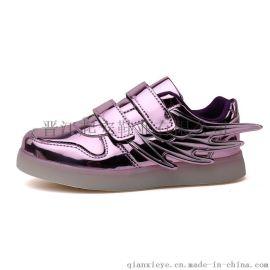 厂家直销  男女同穿系列发光椰子鞋 充电发光鞋