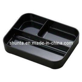 日韩分格盘QQB33 黑色系列 密胺/美耐皿/科学瓷餐盘