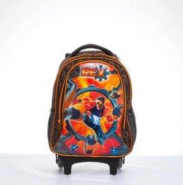 一件代发时尚韩版 背包带轮子儿童拉杆书包小学男超人拉杆包