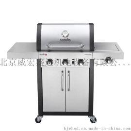 美国Char-broil户外家用商用不锈钢烤炉 4头燃气烧烤炉 BBQ烤架
