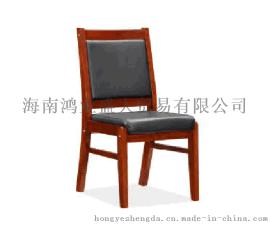 西皮座椅会议椅培训椅实木椅休闲椅