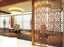 不锈钢屏风定制 隔断镂空雕花 酒店花格屏风 不锈钢客厅折叠屏风
