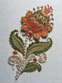 供应各种高档服装用金属丝、印度丝、徽章、肩带、纯手工刺绣标 、来图定制肩章徽章胸章.