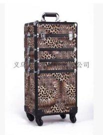 360度旋转万向轮拉杆行李箱手提包旅行箱大铝合金化妆箱JH575