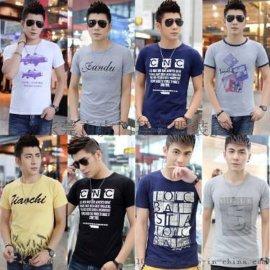 江蘇蘇州男裝T恤低至5元去哪裏廠家直銷純棉韓版男裝T恤便宜批發