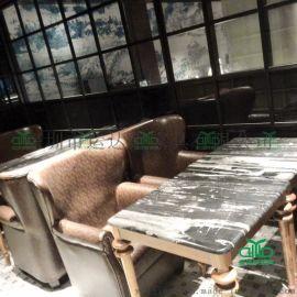 独家设计西餐厅/咖啡厅家具 餐饮桌椅家具工程实力厂家