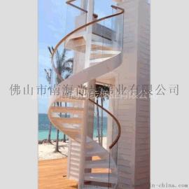 玻璃旋转楼梯 别墅楼梯