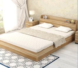 珠海板式床定制厂家圣德家居 双人床定制价格