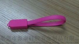 東莞廠家大量生產數據線硅膠套 數據線USB套 硅膠保護套