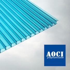 天蓝色采光板蓝色PC阳光板天空蓝色阳光板厂家