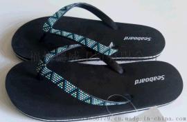 【厂家直销】夏季沙滩鞋 pvc人字拖 夹拖 拖鞋 蓝色简约外穿