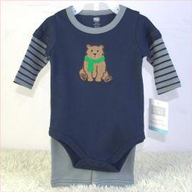 100% cotton baby set 纯棉宝宝外贸套装两件套春秋款
