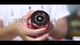 旋转创意不锈钢戒指盒