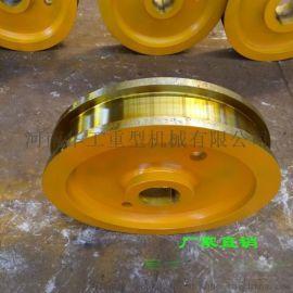 双边主动车轮φ500x150 轴承7520铸钢轮 小车轮