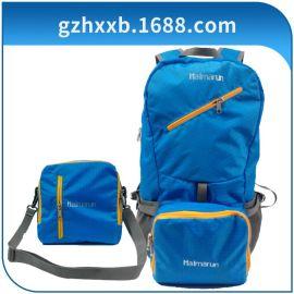 广州狮岭工厂直供时尚运动包格纹单肩斜挎包折叠双肩包电脑旅行包