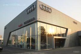 奥迪4s店外墙阳极氧化,氟碳喷涂装饰冲孔板库存促销中...