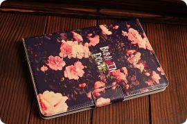 酷尔美 出口日本 IPAD MINI复古印花皮套 彩印皮套 彩色皮套 彩色皮包 保护套