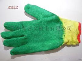 半挂胶手套 单面胶手套 耐磨 防水防护
