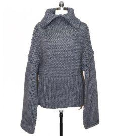 1.5針 粗針毛衣加工生產 棒針針織衫定制外貿服裝加工貼牌OEM