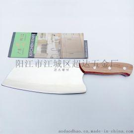 阳江家用木柄菜刀 厨师刀 家用厨刀 斩切刀 切菜切肉