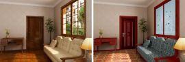 四维星门窗效果图展示设计程序 木门效果图设计展示