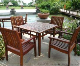 户外度假村休闲桌套椅 户外步行街休闲桌椅 户外花园休闲桌椅特价