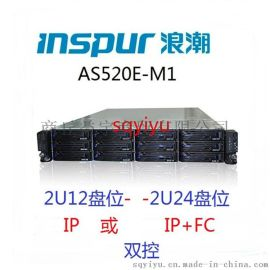 浪潮存储AS520E-M1 双控制器 AS520E-M1主机(IP+FC)-2U24盘位