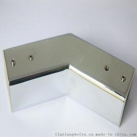 卫浴连接件 淋浴房纯铜配件 136度转角套