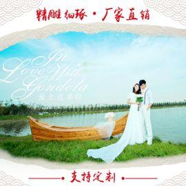 楚風木船出售歐式船 歐式休閒裝飾觀光船婚紗攝影船木質客船