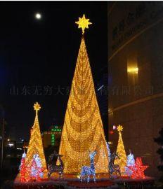 户外大型圣诞树12米10米15米8米圣诞树套餐厂家直销