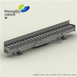 48W雙排擋板LED洗牆燈 外置電源設計散熱更好