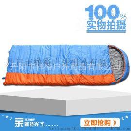 信封直線絎蘭拼黃壓縮包 戶外露營裝備中空棉睡袋 廠家推薦產品