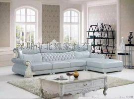 深圳北魏家用沙发808# 真皮头层黄牛皮沙发简约现代客厅家具大小户型转角沙发