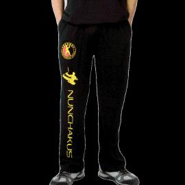 新款双节棍运动裤 双截棍训练裤子 表演衣服武术服装男女成人儿童