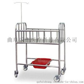 不锈钢婴儿床 儿童床 医用带轮宝宝床移动婴儿车 质优价廉无噪音