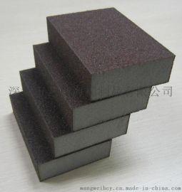 新款棕色120#耐磨抗扭去污金刚砂 高密度海绵砂块磨块SK120Z